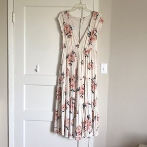 Free People tiered roses maxi dress